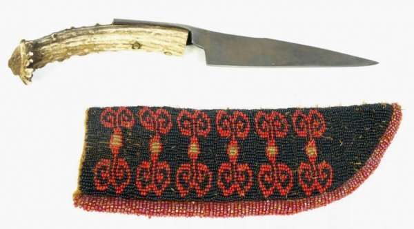 14: Contemporary antler handled knife with sheep shear
