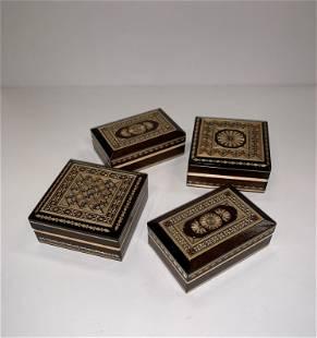 4pc. India Inlayed Box's