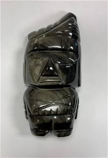 Obsidian Tribal Figure