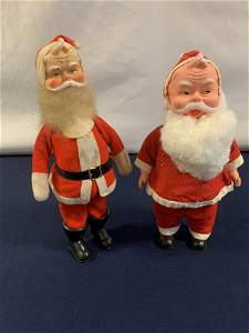 2 Vintage Santa's