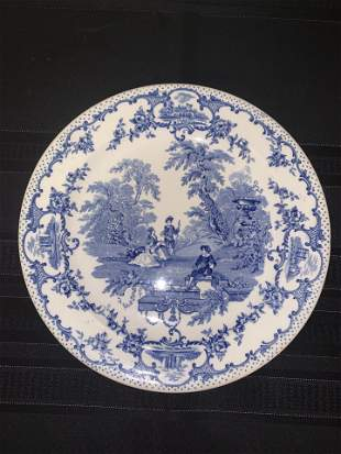 Blue White Ironstone Plate, Masons England
