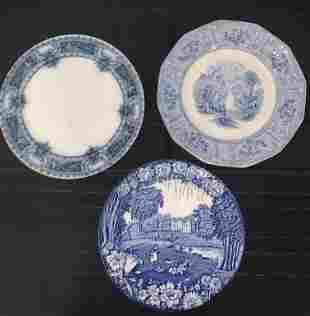 Flo Blue and Blue/White dishes, Enoch Woods, Corinth, J