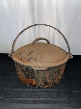 Lidded Cast Iron Pot, Early