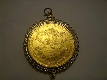 131: 14k  Twenty dollar 1884