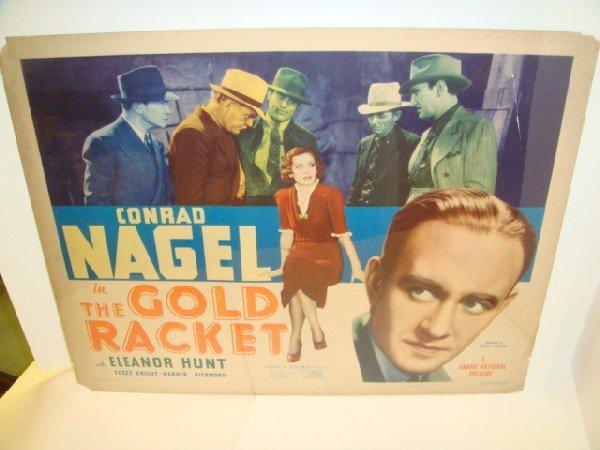4: Conrad Nagel 1937 Movie Poster Gold Racket