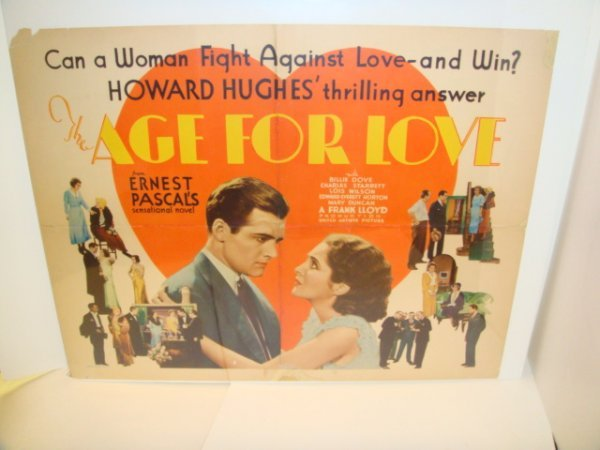 6: 1930 Age For Love American Movie Poster