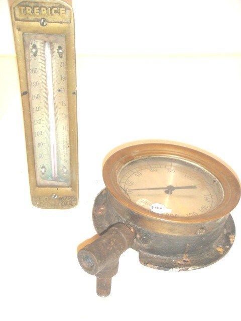10: Steam Pressure Gauge and Temp Gauge