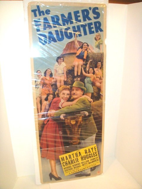 22: 1940 Farmers Daughter  insert Movie Poster