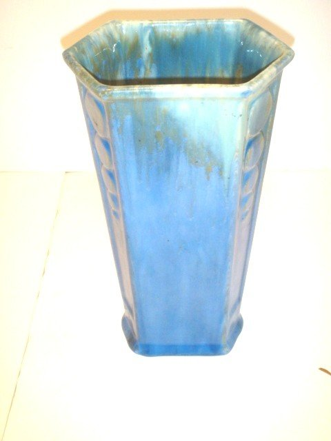 5: Glazed Roseville Deco Vase