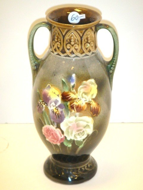 9: Double Handled Pottery Vase
