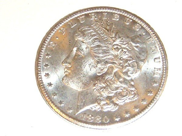 27: 1880-CC Morgan Silver Dollar