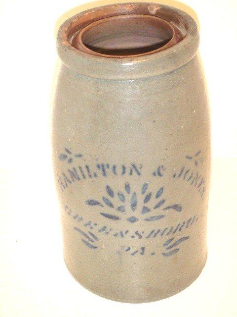 4: Hamilton & Jones stoneware crock