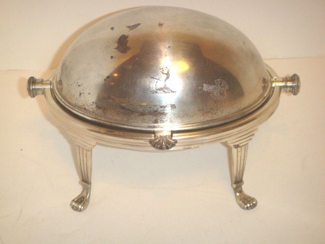 5: 5X8 inch silver plate meat dome