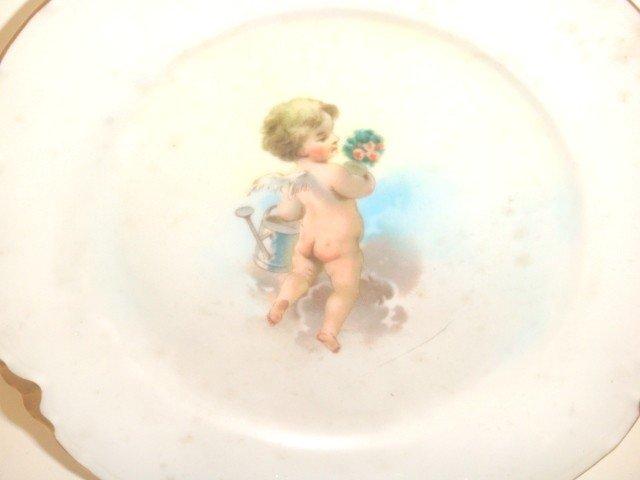 6: 6 Haviland cupid saucers - 3