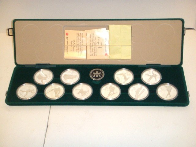 19: Royal Canadian Olympic sterling coin set