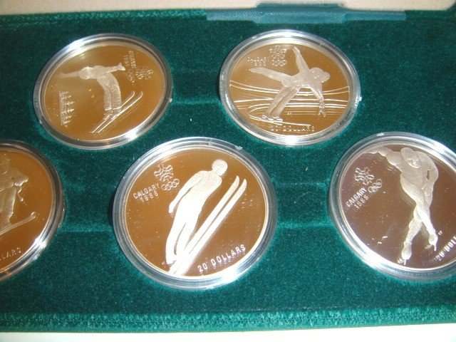 19: Royal Canadian Olympic sterling coin set - 2