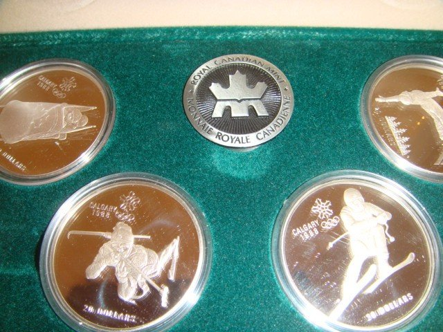 19: Royal Canadian Olympic sterling coin set - 3