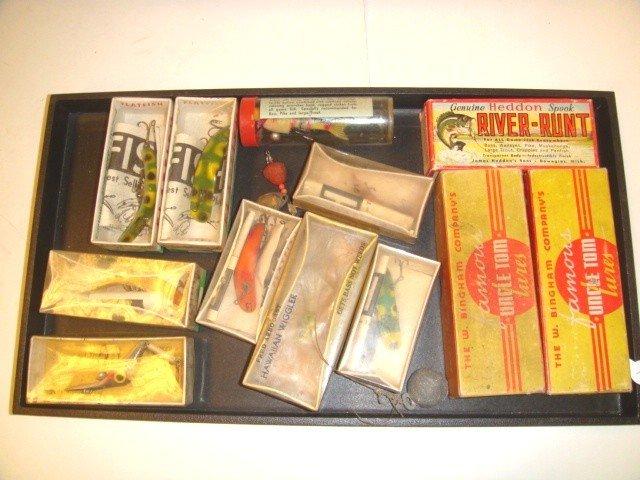 9: Heddon & Other Vintage Fishing Lure Lot