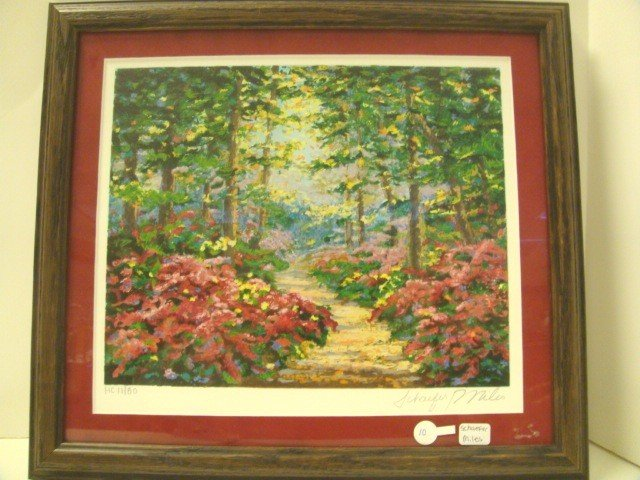 """10: Schaefer Miles Serigraph Titled """"Woodland Jewel"""""""