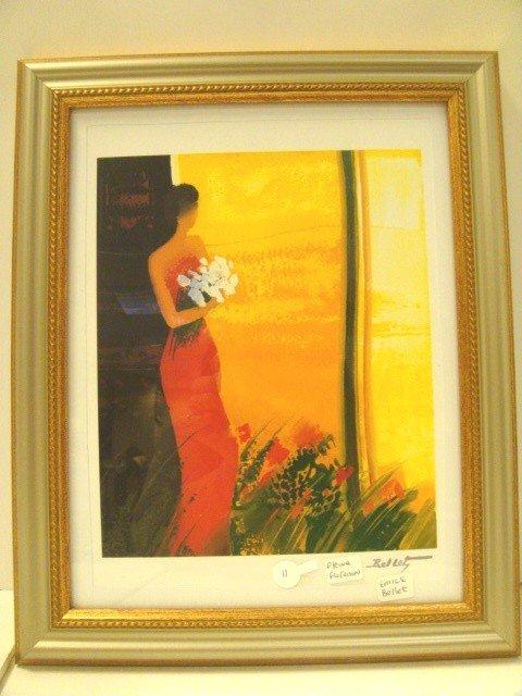 "11: Emile Bellet Colored Litho Titled "" Pleine Floraiso"