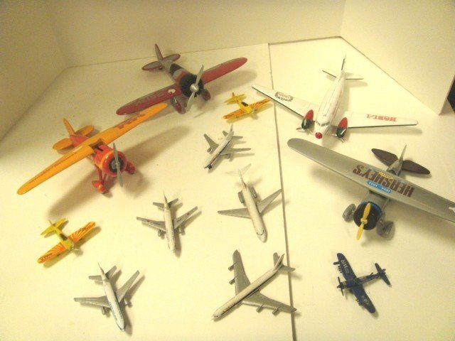 20: Misc Airplane Lot- Banks and Toys