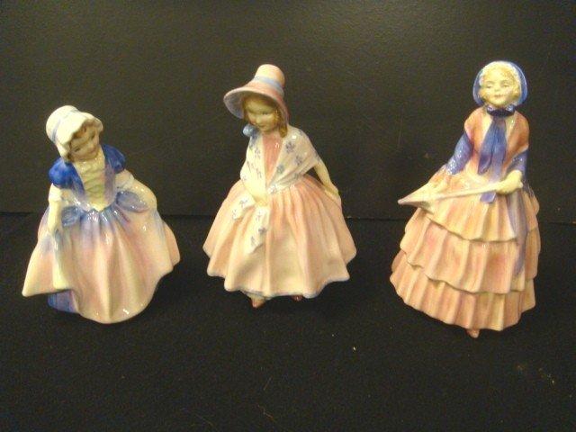 22: 3 Royal Doulton Porcelain Figurines