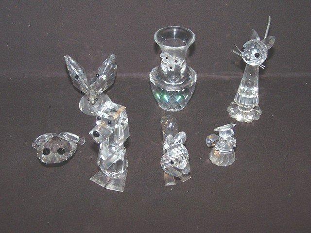 121: Collection of Various Swarovski Crystal Animals