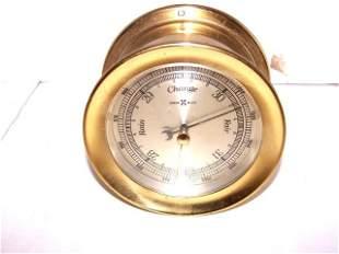 Herman Miller Barometer Weather Gauge Brass