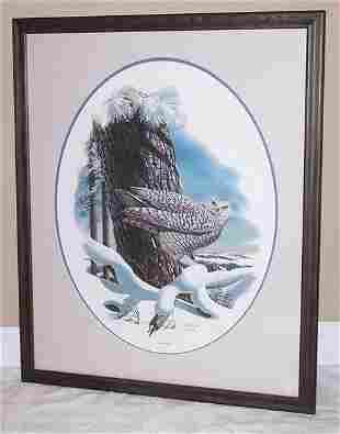 "Don Blake ""Snowy Owl"" Signed Print"