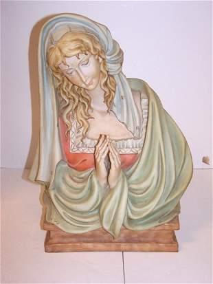 Artist signed ceramic religious bust