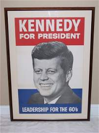 26: Kennedy for President campaign poster