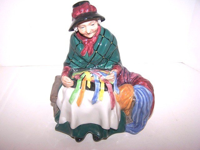 "22: Royal Doutlon ""Silks and Ribbons' Figurine"