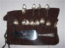 54: Sterling Silver Heart Shaped Tea Spoons