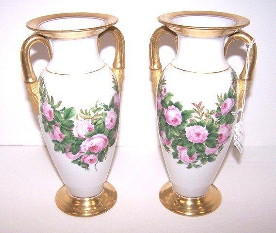 1: Pair of Royal Copenhagen Floral Vases