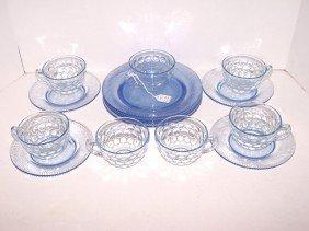 3: Lot of Blue Depression Glass