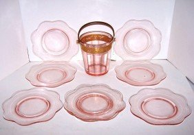 4: Group of Pink Depression Glass
