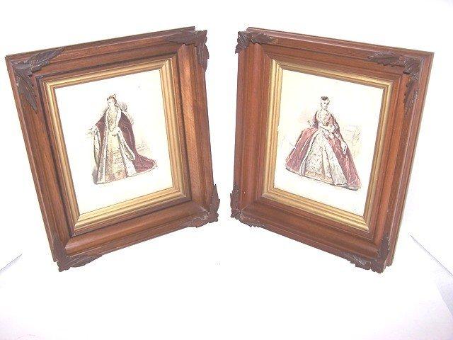 11: Pair of Victorian Walnut Frames