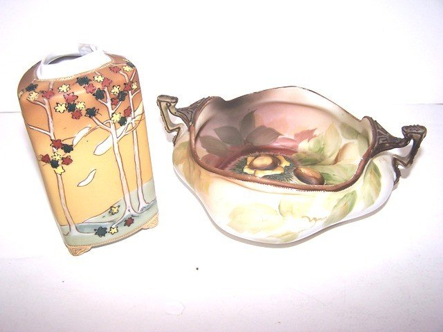 12: 2pcs Of Hand Painted Nippon