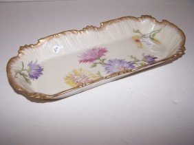 TV France Floral Relish Tray