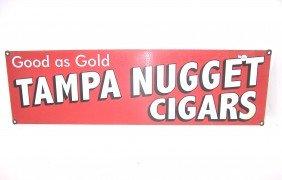 20: Tampa Nuggets Cigars Porcelain Sign
