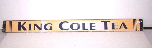 22: King Cole Tea Porcelain Advertising Sign
