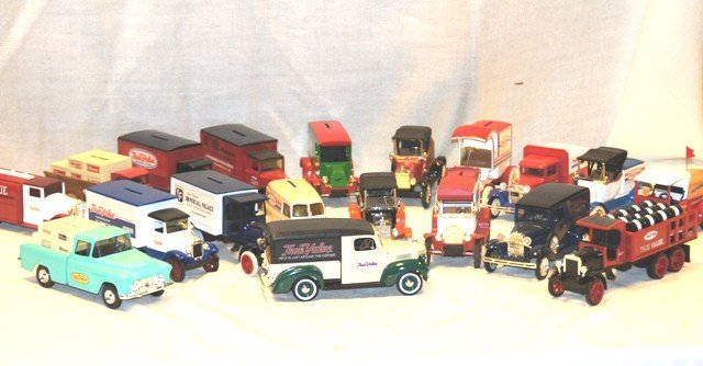 5: Lot of 18 True Value Toy Truck Banks
