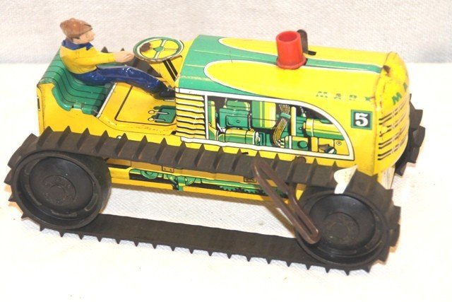 7: Marx 5 Tin Wind Up Climbing Tractor
