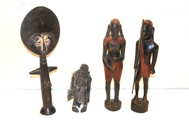 21: African Tribal Carved Statues