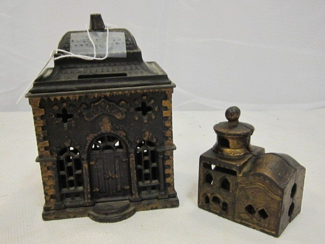 3: Vintage 2 Cast Iron Still Banks