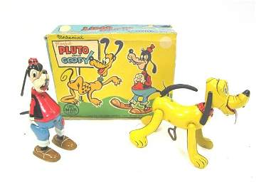 61: Marx Linemar Boxed Goofy and Pluto Set