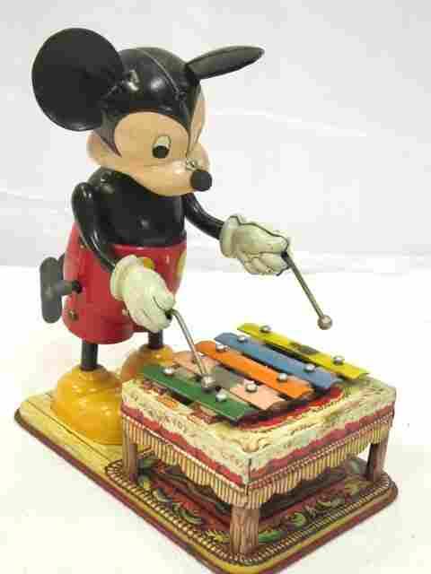 Marx Linamar Mickey Mouse Playing Xylophone