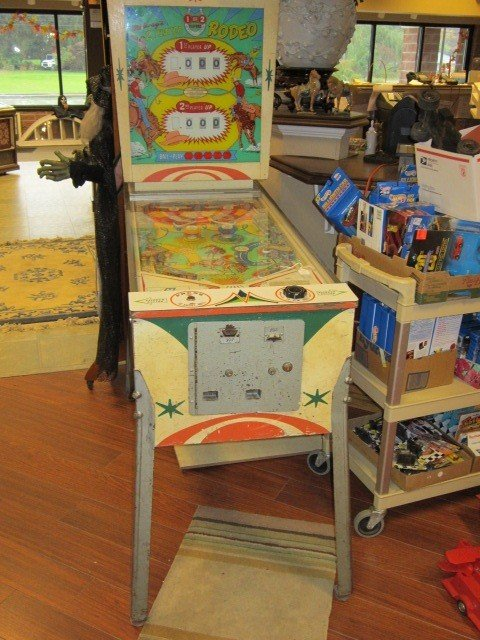 Vintage 1960 s Rodeo Pinball Machine