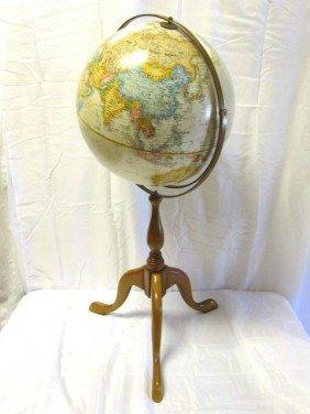13: Replogle World Globe On Tri Foot  Stand