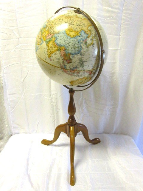 13: Replogle World Globe On Tri Foot  Stand